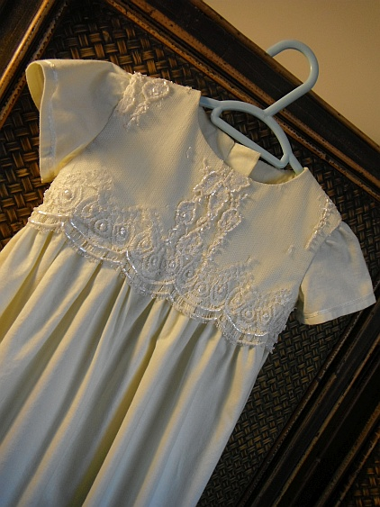 Shannon Baptism gown close front
