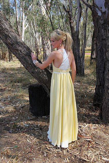 Yellow Dress full length back 132